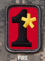 1 ASSTERISK PATCH - FIRE