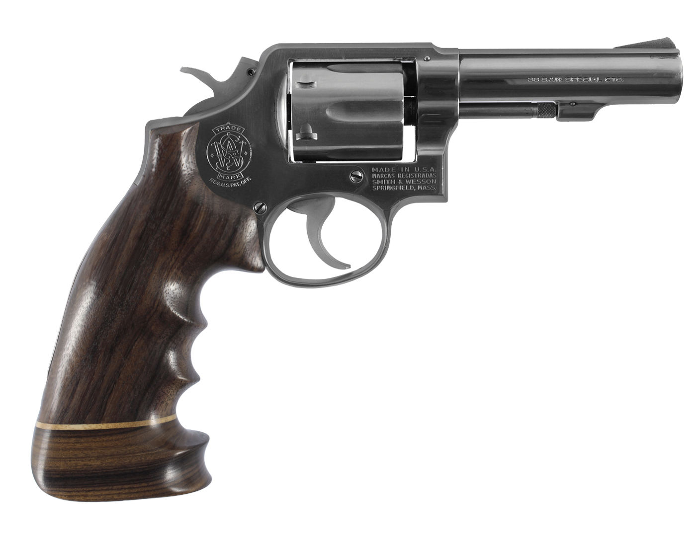 ROSEWOOD BIG BUTT REVOLVER GRIP - S&W K OR L FRAME SQUARE BUTT