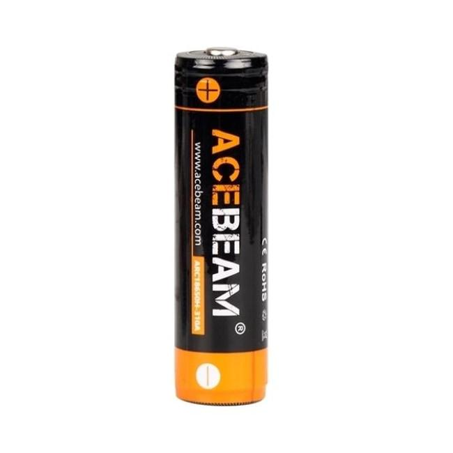 18650 PROTECTED LITHIUM ION RECHARGEABLE BATTERY - 3100 MAH - ACEBEAM