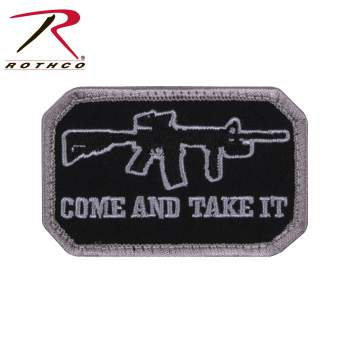 COME AND TAKE IT MORALE PATCH - BLACK / SILVER