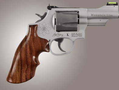 ROSEWOOD REVOLVER GRIP W/ TOP FINGER GROOVES - S&W K OR L ROUND TO SQUARE BUTT CONVERSION