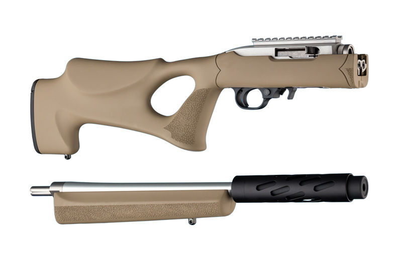 RUBBER OVERMOLDED TAKEDOWN THUMBHOLE STOCK - RUGER 10/22 STANDARD BARREL - FLAT DARK EARTH
