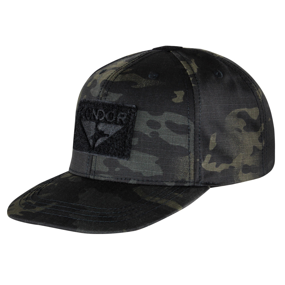 FLAT BILL SNAPBACK HAT - MULTICAM BLACK