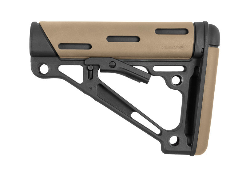 OVERMOLDED COLLAPSIBLE BUTTSTOCK - AR - COMMERCIAL - FLAT DARK EARTH