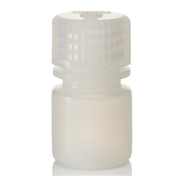 NALGENE NARROW MOUTH ROUND TRAVEL BOTTLE - 8ML (1/4 OZ)