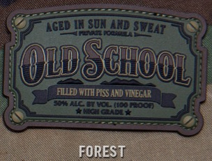 OLD SCHOOL PVC PATCH - FOREST
