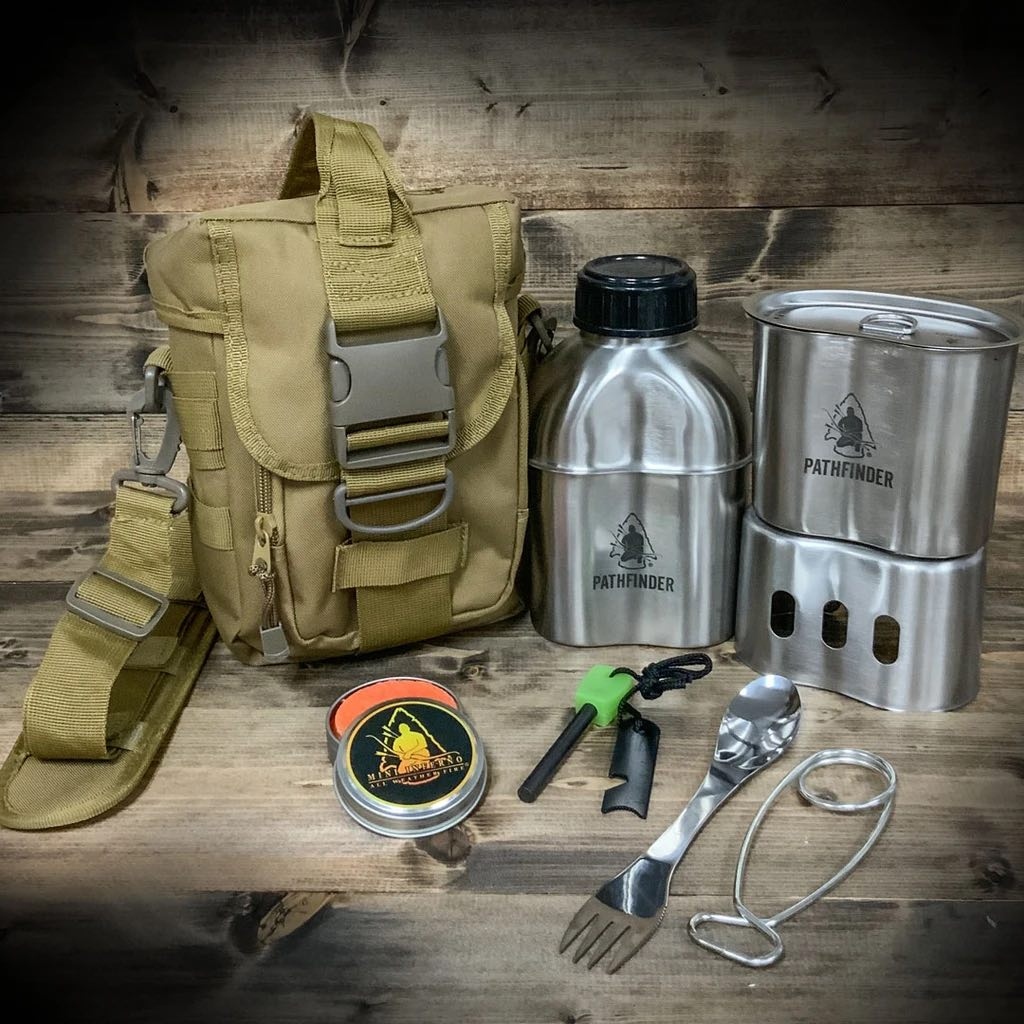 CAMPFIRE SURVIVAL COOKING KIT, COYOTE TAN - PATHFINDER