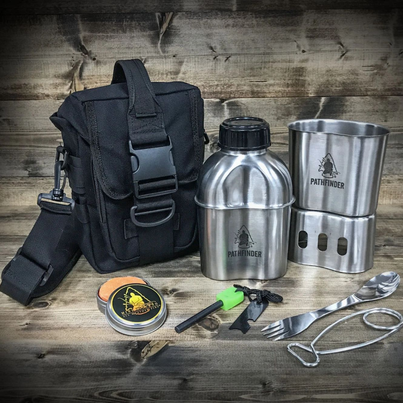 CAMPFIRE SURVIVAL COOKING KIT, BLACK - PATHFINDER