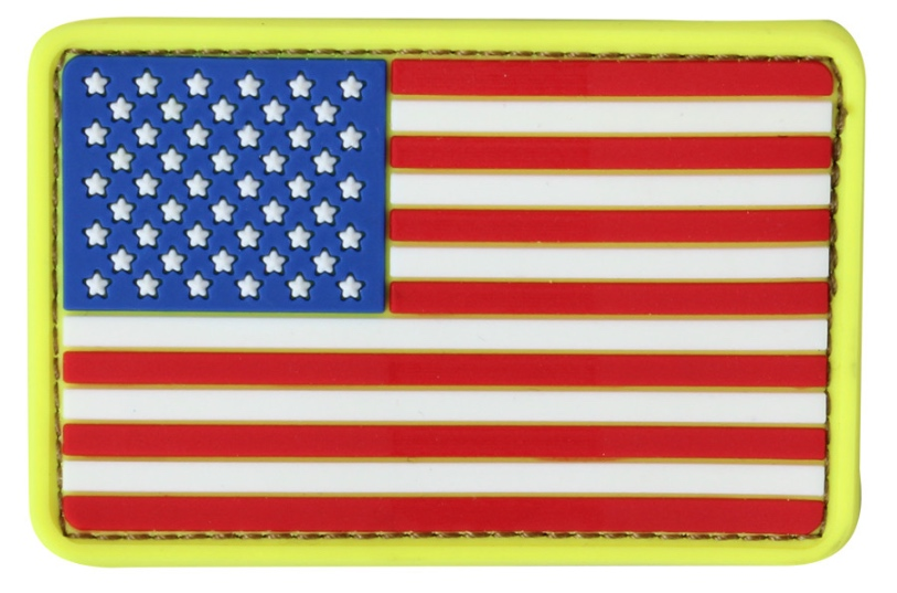 PVC US FLAG PATCH - RED, WHITE & BLUE