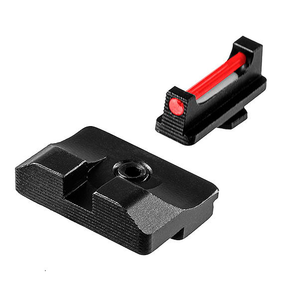 FIBER-OPTIC PRO COMPETITION HANDGUN SIGHT - GLOCK LOW SET