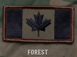 CANADIAN FLAG PATCH - FOREST
