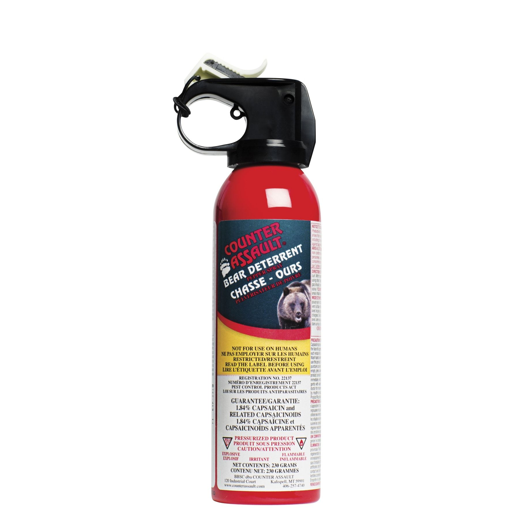 COUNTER ASSAULT BEAR DETERRENT PEPPER SPRAY - 230G