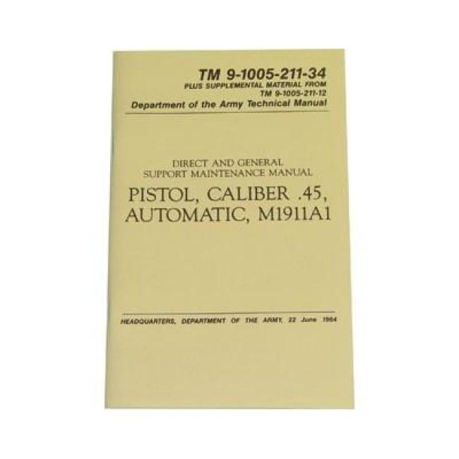 M1911A1 (1911) TECHNICAL MANUAL REPRINT