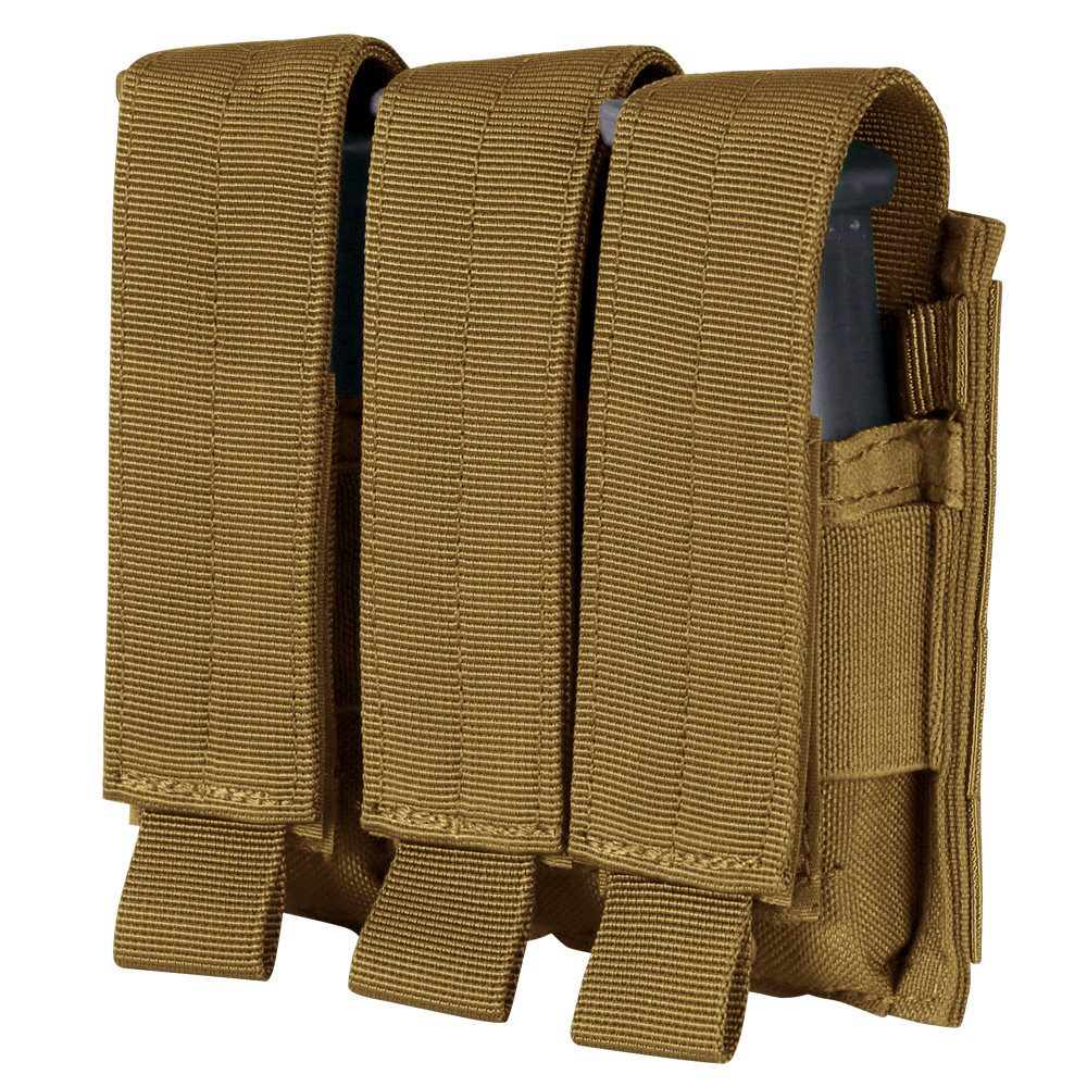 TRIPLE PISTOL MAG POUCH - COYOTE BROWN