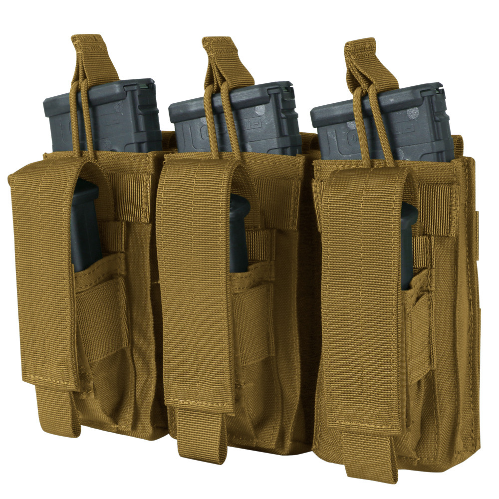 TRIPLE KANGAROO MAG POUCH - COYOTE BROWN