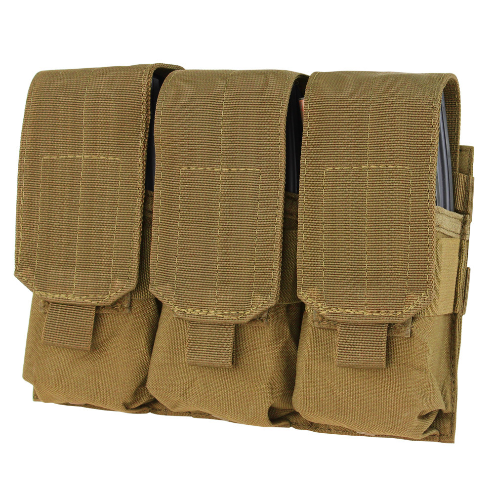 TRIPLE M4 MAG POUCH - COYOTE BROWN
