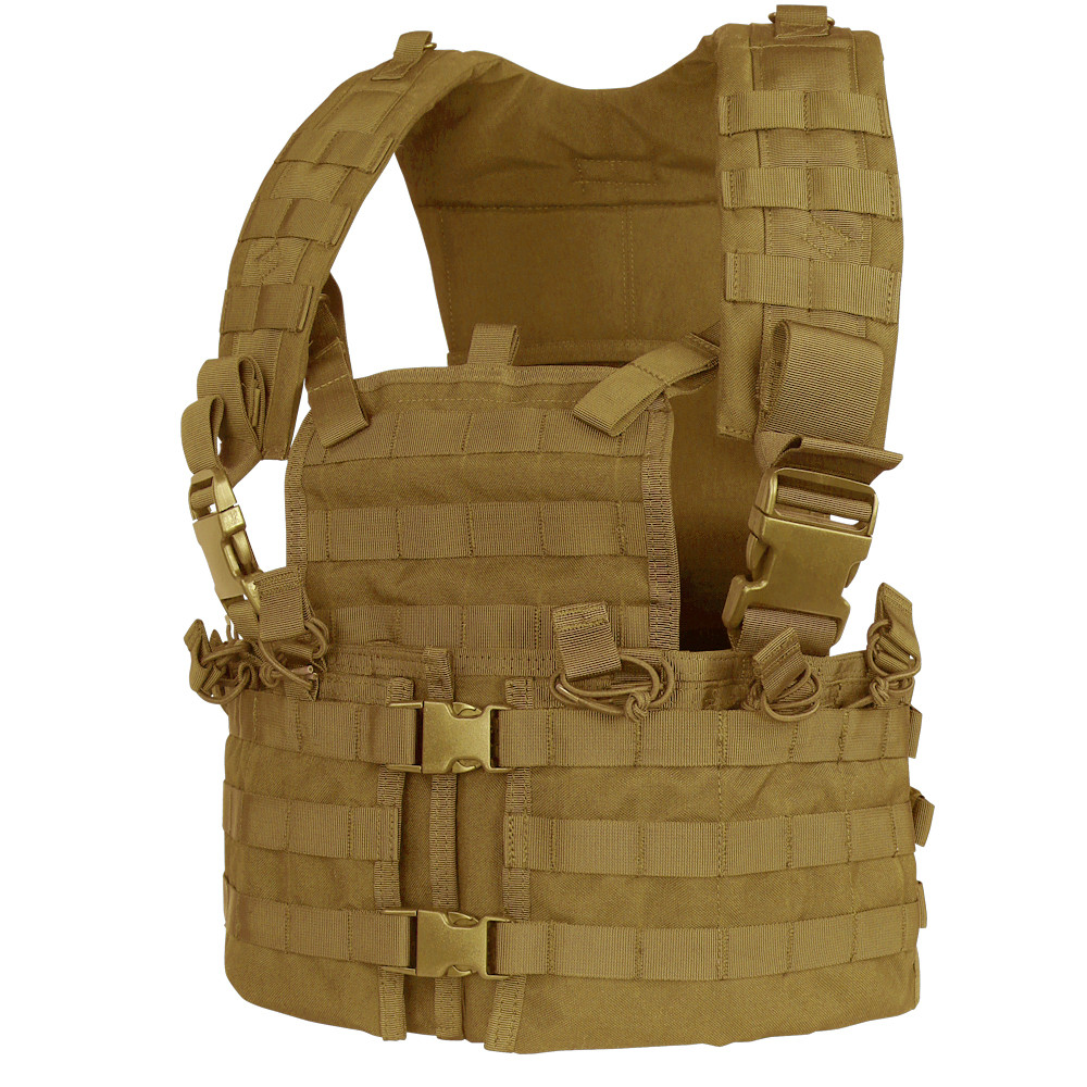MODULAR CHEST SET WITH HYDRATION CARRIER - COYOTE BROWN