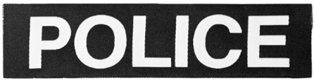 POLICE ID PATCH - 4''x2''