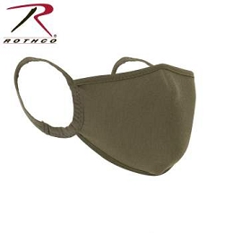 REUSABLE 3-LAYER POLYESTER FACE MASK - COYOTE BROWN