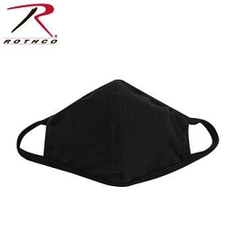 REUSABLE 3-LAYER POLYESTER FACE MASK - BLACK