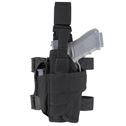 TORNADO TACTICAL LEG HOLSTER - LEFT HANDED - BLACK