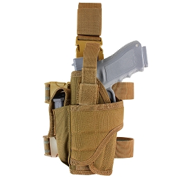 TORNADO TACTICAL LEG HOLSTER - LEFT HANDED - COYOTE BROWN
