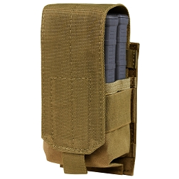 SINGLE STACKER M14 MAG POUCH - GEN II - COYOTE BROWN
