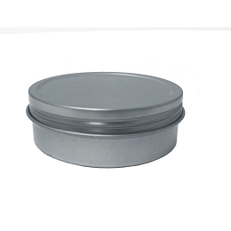 2 OZ ROUND STEEL CONTAINER, SCREW TOP - PATHFINDER