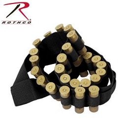 37 SHOTGUN SHELL BANDOLIER - BLACK
