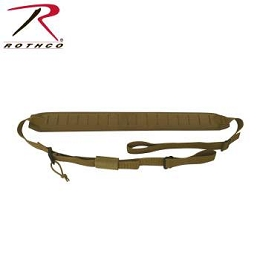 LASER CUT MOLLE 2-POINT PADDED RIFLE SLING - COYOTE BROWN
