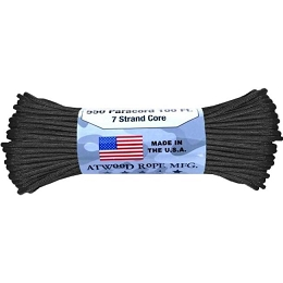 550 PARACORD - 100 FEET - BLACK