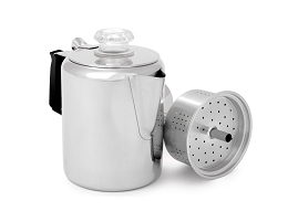 GLACIER STAINLESS STEEL 9 CUP (1.3 LITRE) COFFEE PERCOLATOR