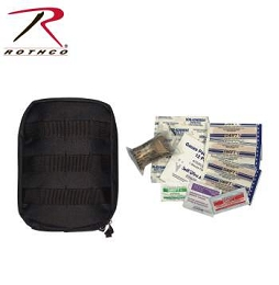 MOLLE TACTICAL FIRST AID KIT - BLACK