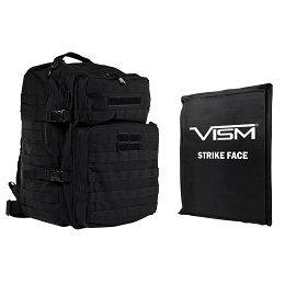 ASSAULT 3 DAY BACKPACK COMBO, BLACK - INCLUDES BALLISTIC SOFT PANEL - RECTANGLE CUT 11