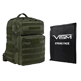 ASSAULT 3 DAY BACKPACK COMBO, GREEN - INCLUDES BALLISTIC SOFT PANEL - RECTANGLE CUT 11