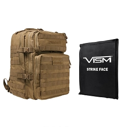 ASSAULT 3 DAY BACKPACK COMBO, TAN - INCLUDES BALLISTIC SOFT PANEL - RECTANGLE CUT 11