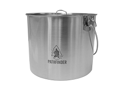 STAINLESS STEEL 120 OZ (3.6 LITRES) BUSH POT AND LID SET - PATHFINDER