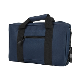 DISCRETE DOUBLE PISTOL CASE - BLUE WITH BLACK TRIM
