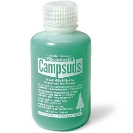 CAMPSUDS BIODEGRADABLE CLEANER IN NALGENE BOTTLE - 4 OZ / 120ML