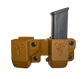 TWIN KYDEX MAGAZINE POUCH - BELT CLIP - COYOTE BROWN - COMP-TAC