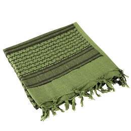 SHEMAGH 100% COTTON - OLIVE DRAB / BLACK