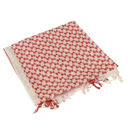 SHEMAGH 100% COTTON - RED / WHITE