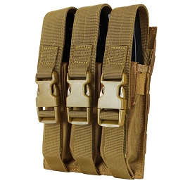 TRIPLE MP5 MAG POUCH - COYOTE BROWN