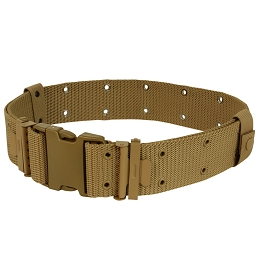 G.I. STYLE NYLON PISTOL BELT - COYOTE BROWN