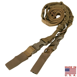 CBT 2 POINT TO SINGLE POINT BUNGEE SLING - COYOTE BROWN