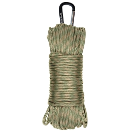 550 PARACORD - 100 FT WITH CARABINER - SAGE / TAN
