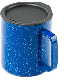 GSI GLACIER INSULATED STAINLESS 15 FL OZ (444 ML) CAMP CUP - BLUE SPECKLE