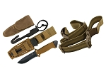GERBER LMF II SURVIVAL SERRATED EDGE FIXED BLADE - COYOTE BROWN - WITH SHEATH