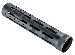 KNURLED ALUMINUM FREE FLOAT FOREND EXTENSION W/ ACCESSORIES - 9.5