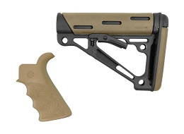 OVERMOLDED BEAVERTAIL GRIP & COLLAPSIBLE BUTTSTOCK KIT - AR - COMMERCIAL - FLAT DARK EARTH